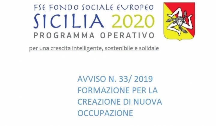 Immagine articolo: Contributi per realizzare percorsi formativi che favoriscano la creazione di nuova occupazione grazie all'Avviso 33/2019 FSE Sicilia