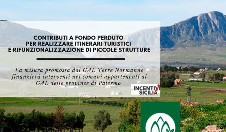 Immagine articolo: Contributi a fondo perduto per realizzare itinerari turistici e e riqualificare immobili in provincia di Palermo, grazie all'azione del GAL Terre Normanne