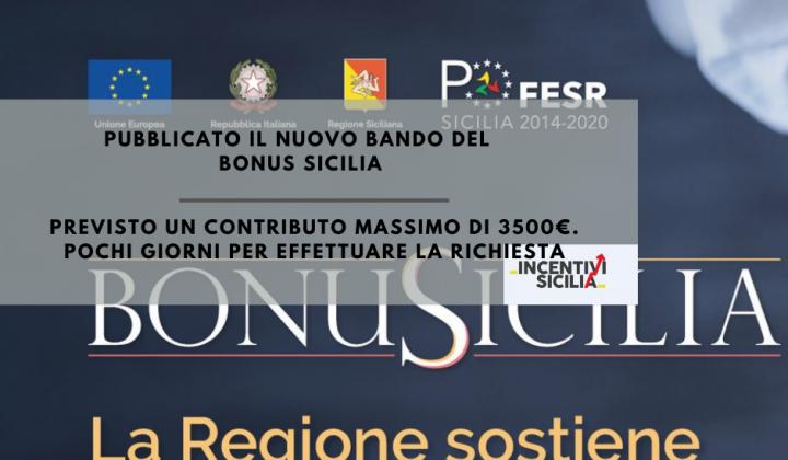 Immagine articolo: Pubblicato il nuovo bando del BonuSicilia: contributi fino a 3.500 € per le imprese siciliane