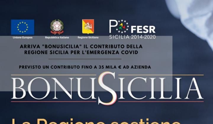 """Immagine articolo: Arriva """"BonuSicilia"""": contributo a fondo perduto fino a 35.000 € per le sole aziende siciliane"""