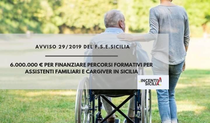 Immagine articolo: 6.000.000 € per finanziare la formazione degli assistenti familiari e caregiver in Sicilia grazie all'avviso 29/2019