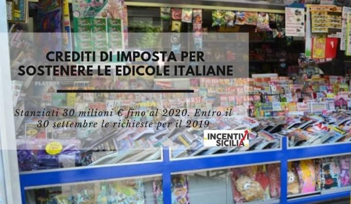 Immagine articolo: Crediti di imposta per sostenere le edicole italiane. Stanziati 30 milioni € fino al 2020