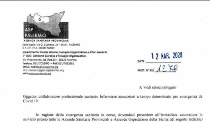 Immagine articolo: Emergenza Covid 19: Le A.S.P. siciliane alla ricerca urgente di medici e infermieri per fronteggiare le esigenze degli ospedali