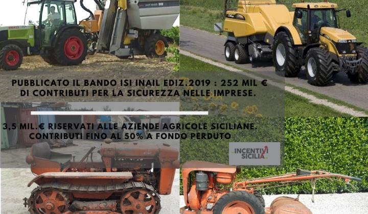 Immagine articolo: Contributi fino al 50% fondo perduto alle imprese agricole per l'acquisto di trattori e macchine agricole