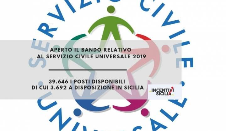 Immagine articolo: Nuovo bando Servizio Civile 2019: 39.646 i posti disponibili di cui 3.692 a disposizione in Sicilia