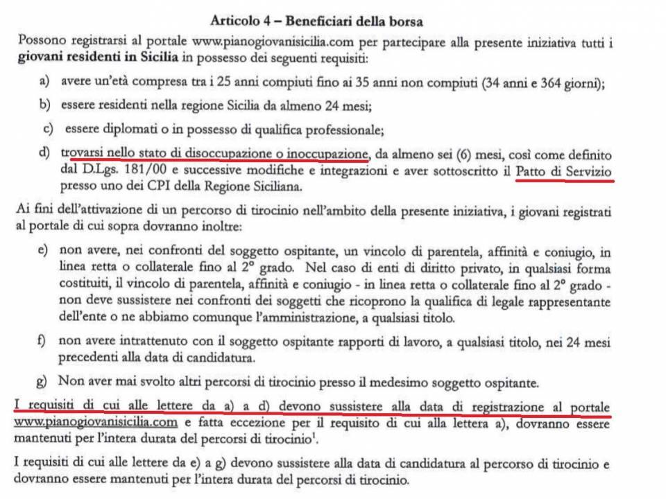 Immagine articolo: Domani iniziano le iscrizioni per i tirocinanti al PianoGiovani: ma avete già la D.I.D. e sottoscritto il Patto di Servizio?