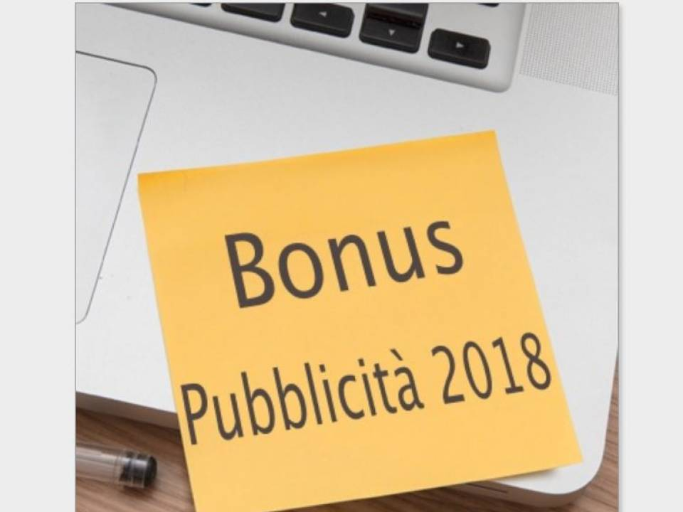 Immagine articolo: Attivato il Bonus pubblicità che da diritto al recupero fino al 90%  delle spese pubblicitarie