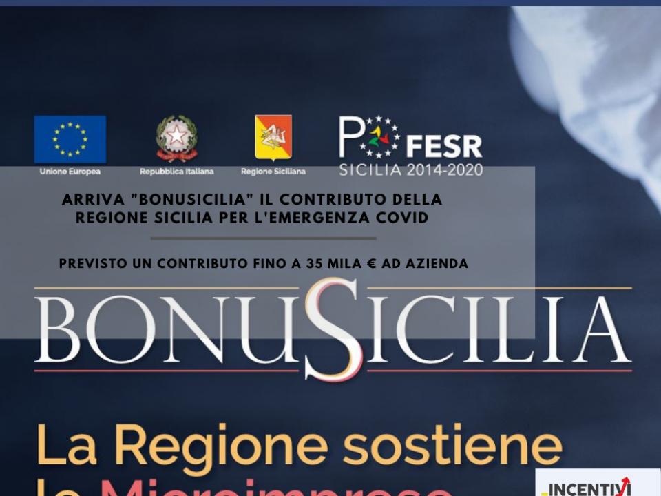 Immagine articolo: Pubblicato il  bando BonuSicilia: ecco tutti i dettagli per poter richiedere il contributo a fondo perduto