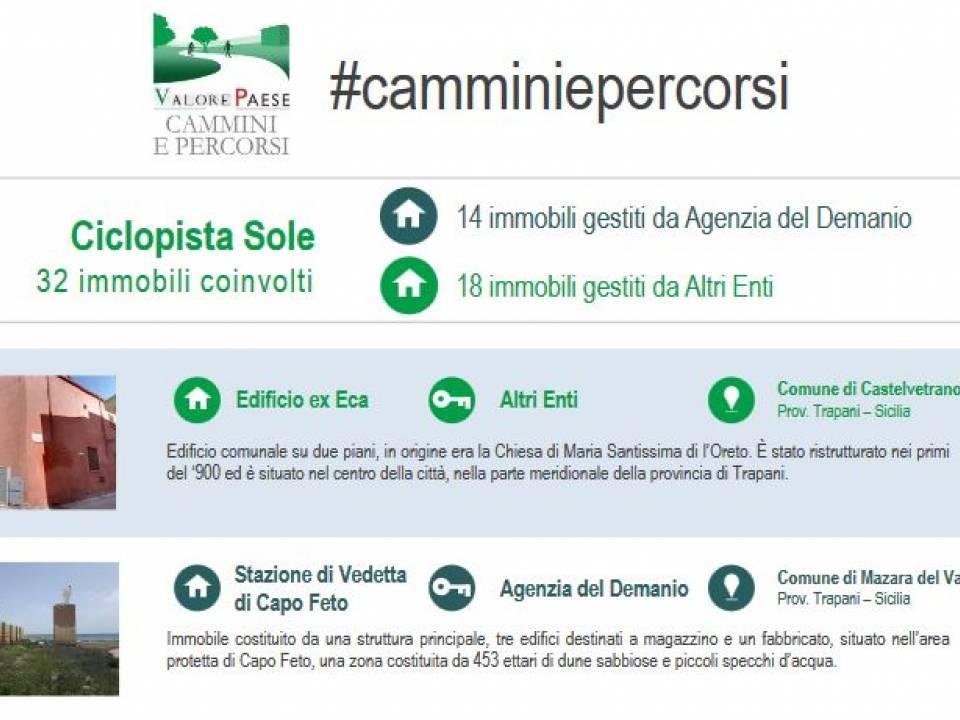 Immagine articolo: Concessione di masserie e case cantoniere a cooperative ed associazioni con il bando #camminiepercorsi: 7 immobili disponibili in Sicilia