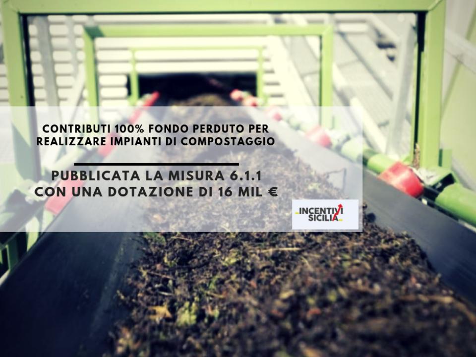 Immagine articolo: Contributi 100% fondo perduto per i Comuni e ARO siciliani per realizzare impianti di compostaggio