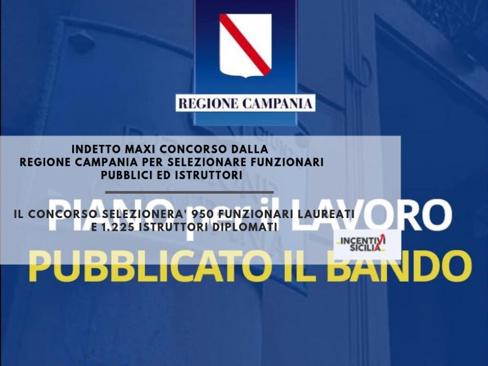 Immagine articolo: Maxi concorso per selezionare 2.175 impiegati pubblici presso la regione Campania.