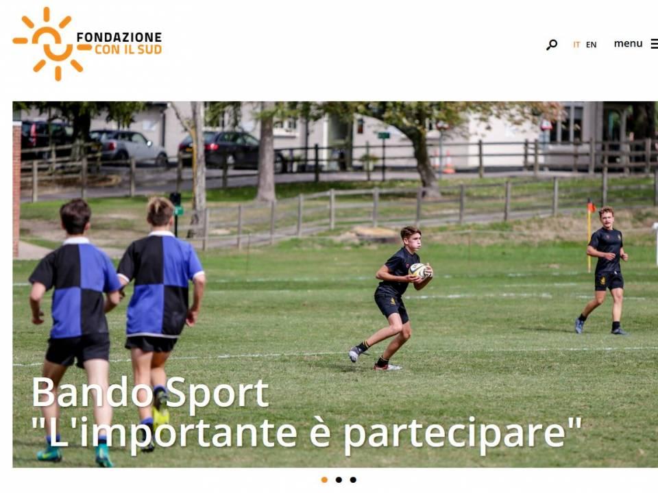 """Immagine articolo: Con il bando """"Sport – l'importante è partecipare"""" 2,3 mil.€ per progetti che diffondano la pratica sportiva al SUD"""