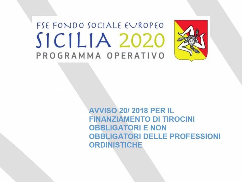 Immagine articolo: Pubblicate le graduatorie dell'avviso 20/2018 del FSE. Finanziati 694 i tirocini da 600 € al mese per i giovani aspiranti professionisti siciliani