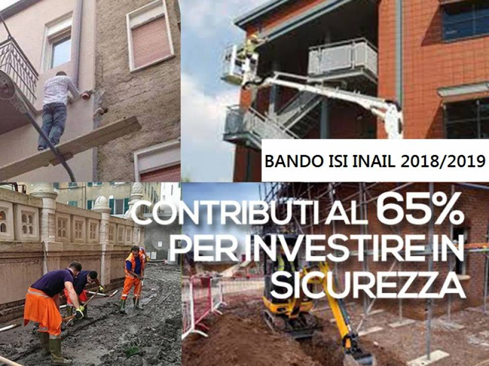 Immagine articolo: Bando Isi INAIL ediz.2018/2019: 370 mil € di contributi per la sicurezza nelle imprese. Oltre 23 milioni € per le aziende siciliane